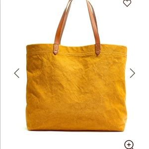 Madewell canvas transport tote-Acorn